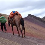 Leaving Rainbow Mountain through the Red Valley
