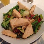 Crispy Tofu with Gingered Vegetables