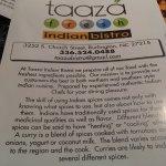 ภาพถ่ายของ Taaza Indian Bistro