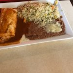 Chicken Burrito with cilantro rice & beans