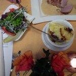 Kartoffel-Gratin mit Salatbeilage