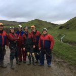 Proud of ourselves! After a day's vertical caving in Giant's Hole