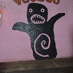 Voodoo on the exterior wall