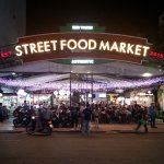 Street Food Market a block away from the Sanouva