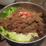 Dry, tough and uninteresting Beef Rendang