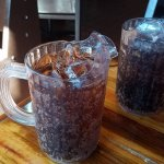 Good sized sodas! More places should do this for me...save the waiters alot of time!