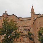 View of Urbino from terrace of the restaurant.