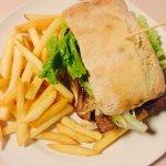 Steak burger with honey!!