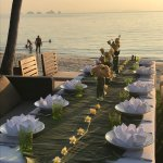 Beach front outdoor dining