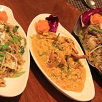 Pad Thai Noodles, Mud Crab Coconut Gravy, Sole Fish crispy fried