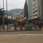 The Golden Dragon Sculpture - Morrison Hill and Leighton Road Junction