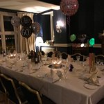 Private lounge set up for 60th birthday party
