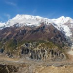 Gangapurna Mountain, Glacier and Lake - Manang, Annapurna Circuit