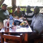 lunch at tree-trout restaurant Nanyuki,