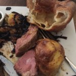 Slow roast and pink meat do not go together. looked more like rump than shoulder.