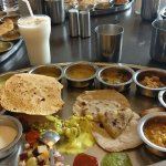 Thali meals with Lassi additional