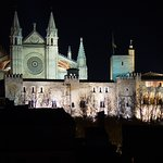 Nightview Cathedral from rooftop terras