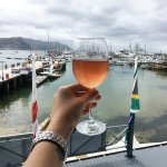 Cheers! The beautiful view over SImon's Town Harbour
