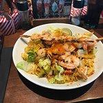 Thai noodle shrimp salad