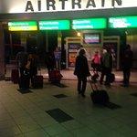 Take AIR TRAIN to Station P4