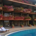 Beautiful view of rooms and lovely flowers
