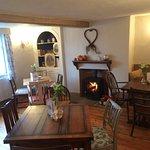 Front seating room with log burner for the colder months