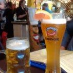 Hefeweizen and Hofbraeu draft beers