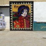 Mosaic of Michael Jackson inside Favela. There's a great little shop here as well