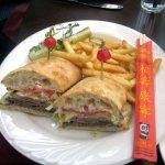 Roast Beef Sandwich (chopsticks belong on Tso's plate)
