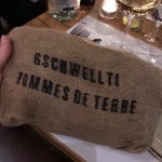 new potatoes served in a sack!