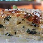Truffle Lasagna with Spinach, Portobello mushrooms and Truffle