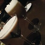 chocolate martini and Irish coffee