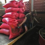 The owner of the store took time to share the process of making coffee and packaging for export