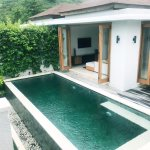Pool Villa, view from the turret (little balcony area)