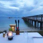 Evening dining beach side