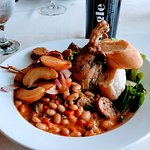 Cassoulet for lunch in Apalachicola