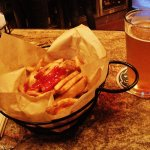 Basket of fries and a pint of Wild Thing