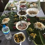 Lunch on on banana leaves on the 2nd day