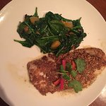 fish of the day with spinach