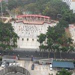 S. Wing View. This is a public area with people dancing and exercising every day. VERY loud musi
