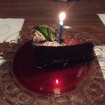 Chocolate torte with raspberry sauce