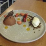 Chocolate mousse desert