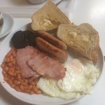 Cooked breakfast with blackpudding