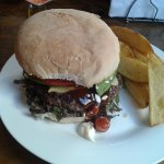 Brecons Burger: a top quality home-made burger. Highly recommended.