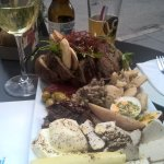 Lunch platter with a cheeky lunchtime drink