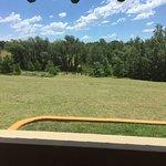 Vista desde el balcón de la cabaña