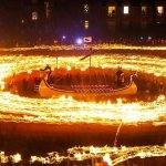 It's Up Helly Aa day in Shetland, burning of the galley from previous year and 2006 Jarl squad s