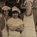 The owner's picture in wall tiles...fond memories