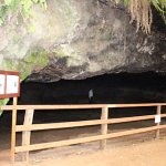 The larger cave where archeologists are doing research