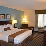 Relax and unwind after a long day of travel or work in our king room.